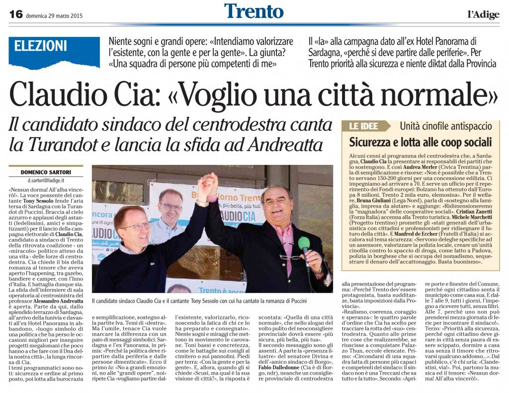 Claudio Cia, voglio una città normale