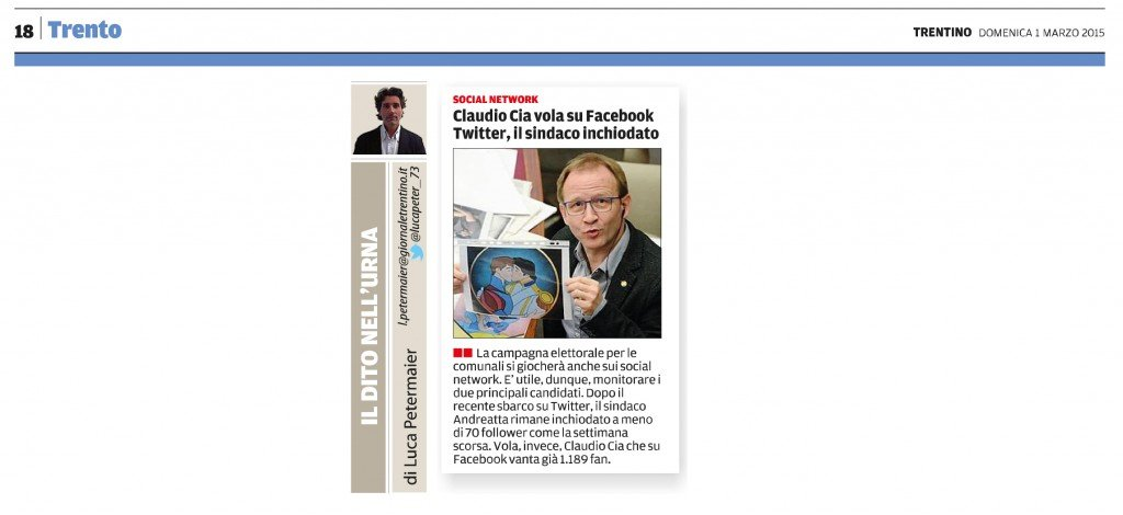 Claudio Cia vola su Facebook