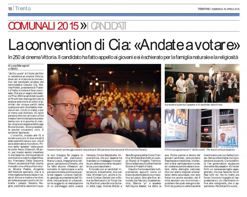 La convention di Cia, andate a votare