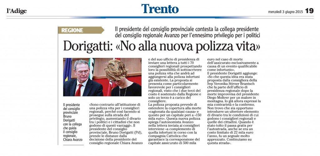 Cia «Poche firme e riconosciute autentiche» - l'Adige 3 giugno 2