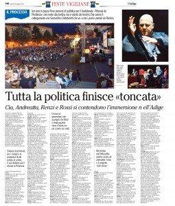 Cia, Andreatta, Renzi e Rossi si contendono l'immersione nell'Adige