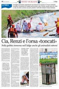 Cia, Renzi e l'orsa toncati