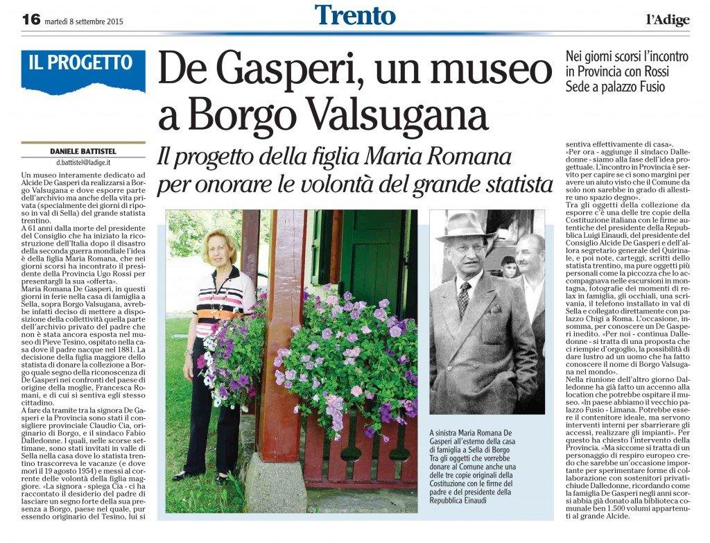 De Gasperi, un museo a Borgo Valsugana