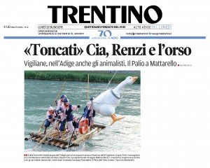 Toncati Cia, Renzi e l'orso