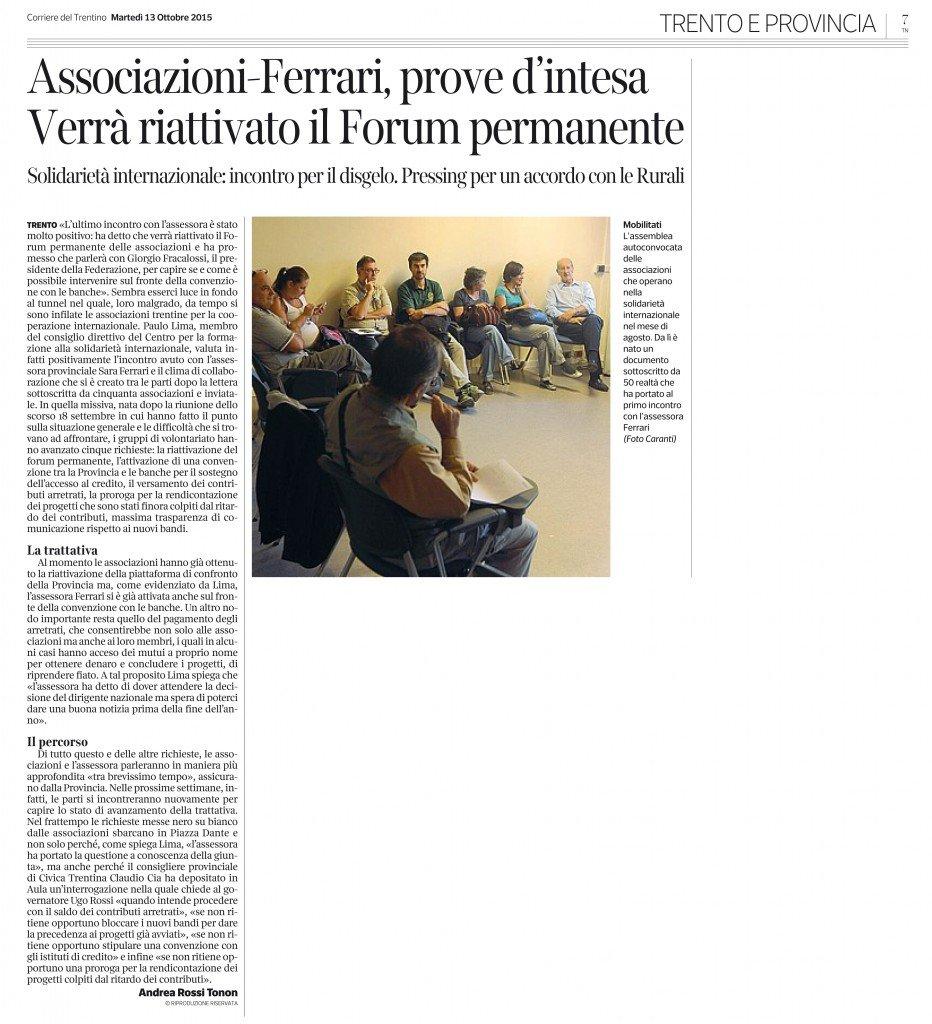 Associazioni-Ferrari, prove d'intesa