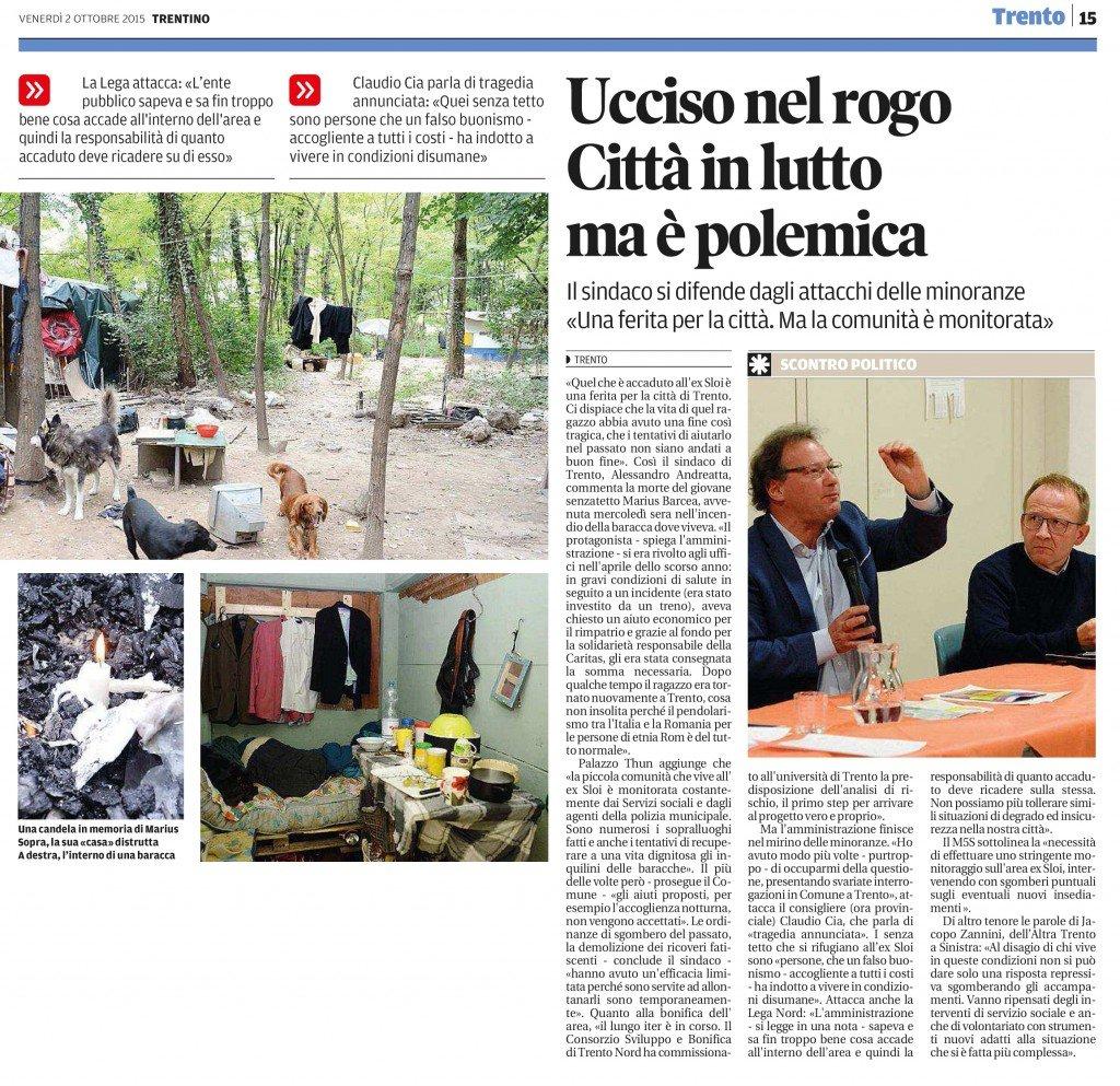 Claudio Cia, tragedia annunciata all'ex Sloi