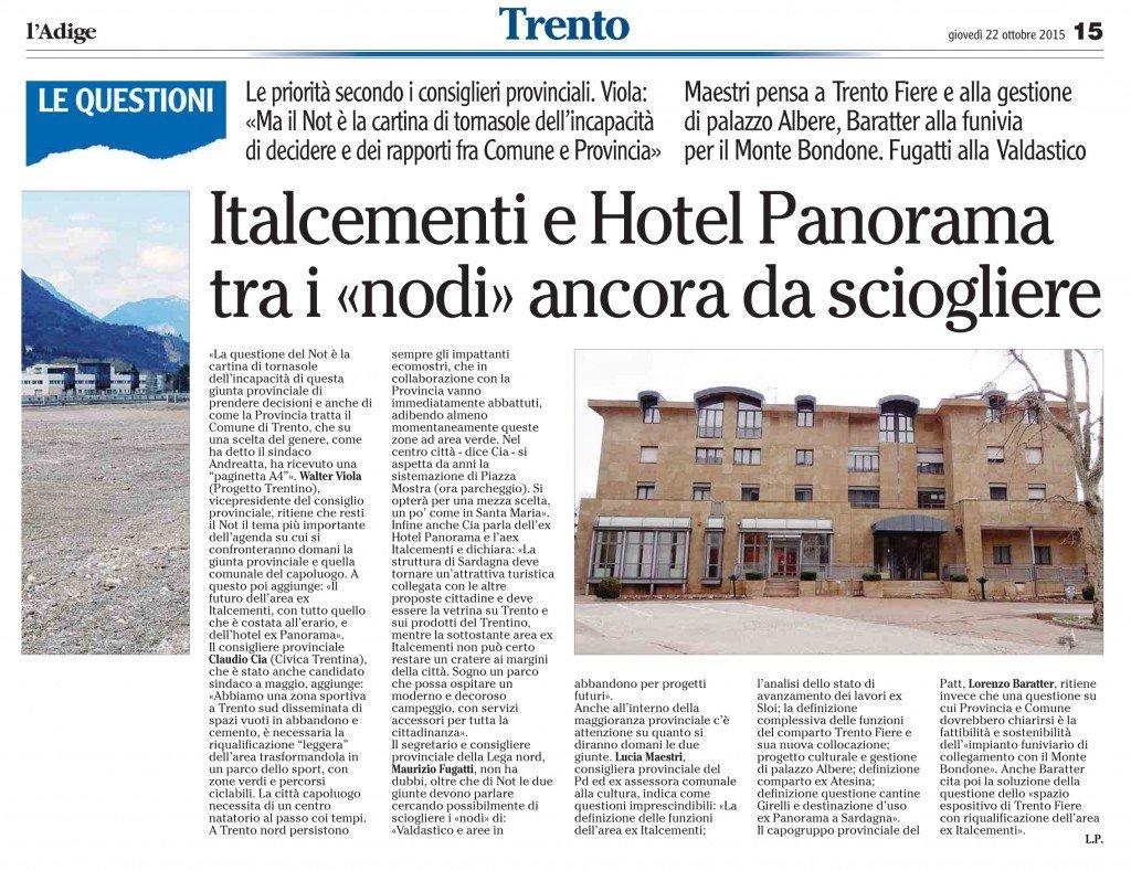 Italcementi e hotel Panorama tra i nodi da sciogliere