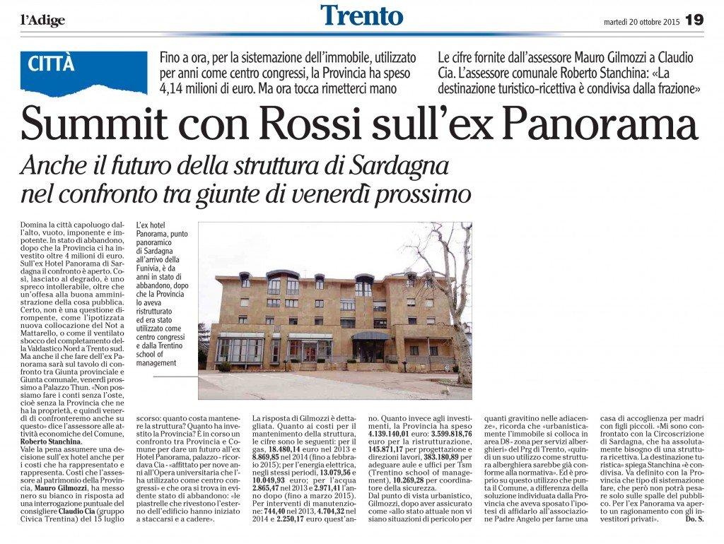 Oltre 4 milioni per il Panorama a Sardagna