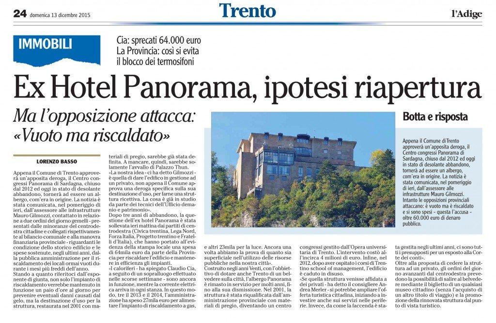 Ex Hotel Panorama, ipotesi riapertura