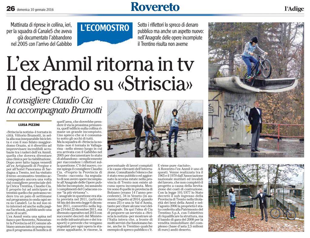 L'ex Anmil ritorna in tv - Il degrado su «Striscia»