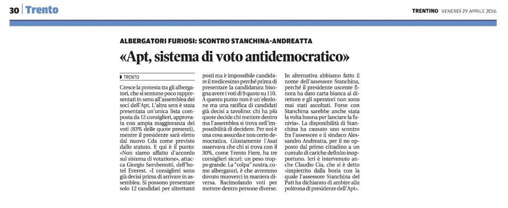 Apt, sistema di voto antidemocratico