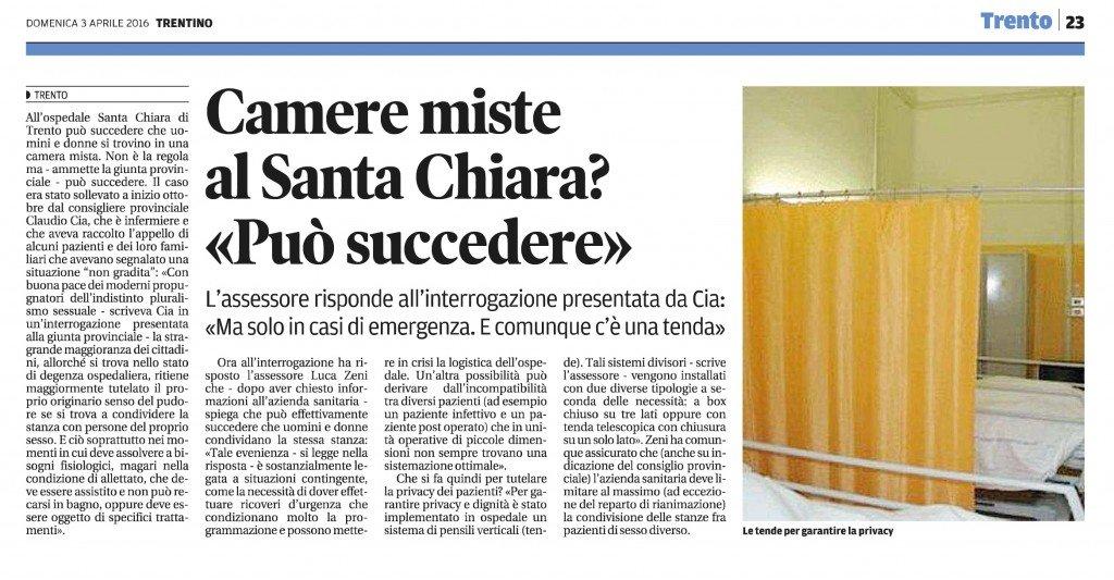 Camere miste al Santa Chiara, può succedere