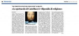 Lo spettacolo di Castellucci è vilipendio di religione