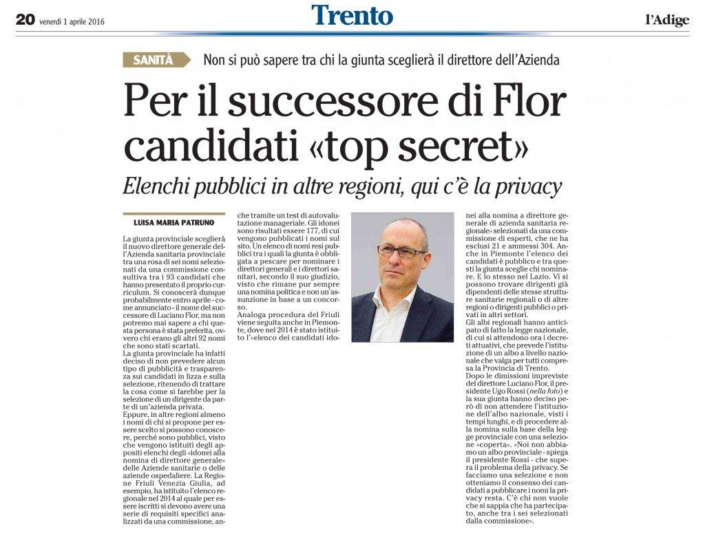 Per il successore di Flor candidati segreti