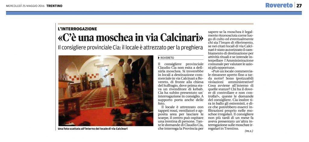 Moschea in via Calcinari