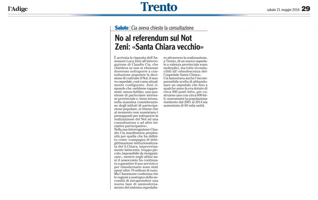 No al referendum sul Not