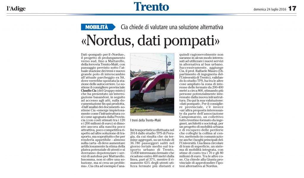 Nordus, dati pompati