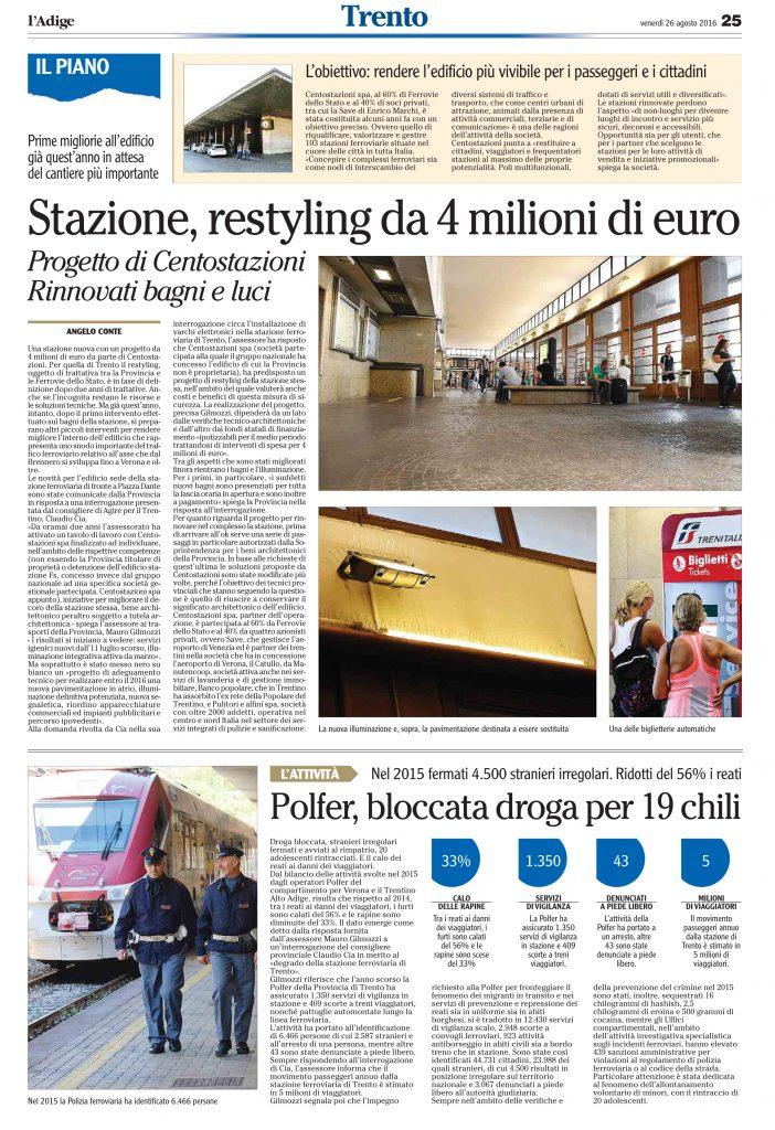 Stazione, restyling da 4 milioni di euro