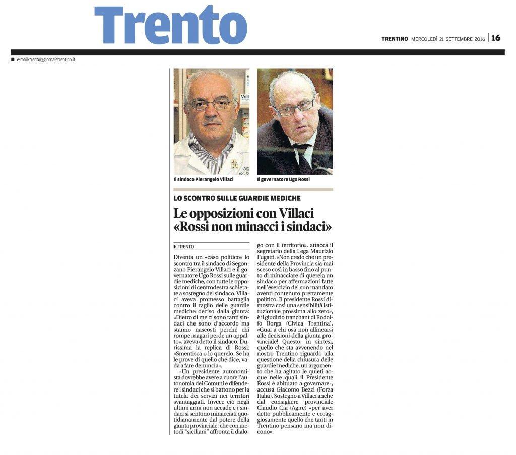Le opposizioni con Villaci, Rossi non minacci i sindaci