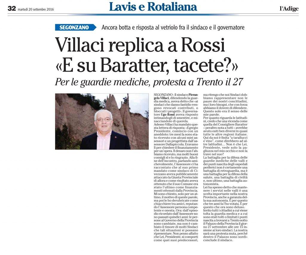Villaci replica a Rossi